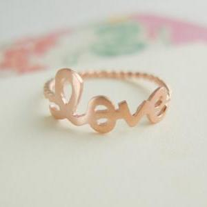 LOVE ring in rose gold